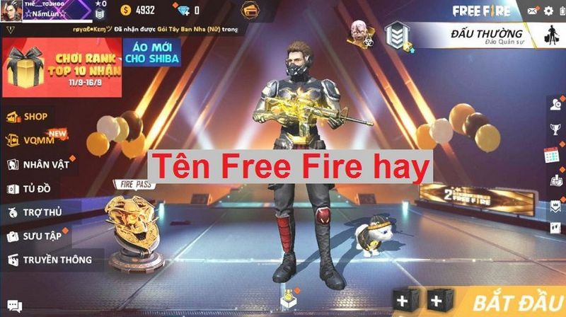 Tên Free Fire FF hay