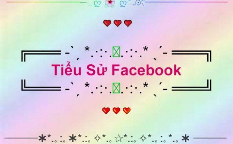 Mẫu khung trang trí tiểu sử Facebook